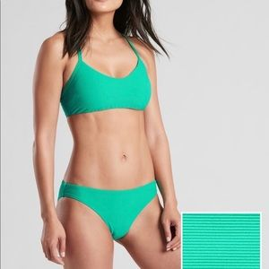 Athleta Swim - New Athleta high teal strappy bikini top M